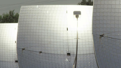 Royalty Free Stock Video Footage panorama of solar panels shot in Israel at 4k w Footage