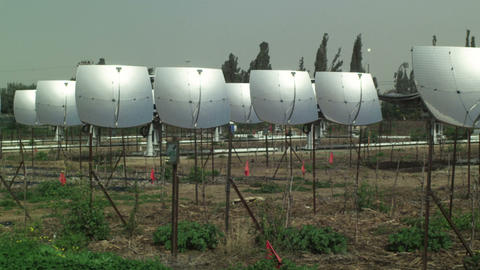 Royalty Free Stock Video Footage of a solar power plant shot in Israel at 4k wit Live Action