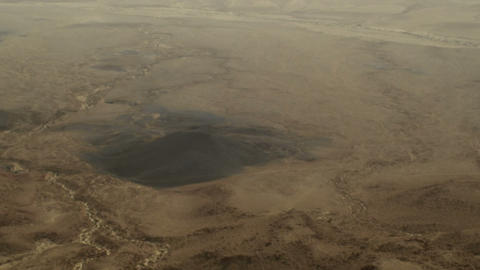 Royalty Free Stock Video Footage panorama of Makhtesh Ramon crater shot in Israe Live Action