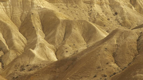 Royalty Free Stock Video Footage of a mountainous desert landscape shot in Israe Footage