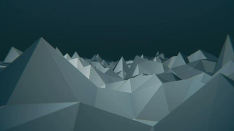 Camera exploring a low poly landscape loop v2 CG動画素材