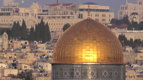 Royalty Free Stock Video Footage of the Dome Of The Rock filmed in Israel at 4k  Live Action