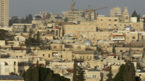 Royalty Free Stock Video Footage of the Temple Mount mosques filmed in Israel at Live Action