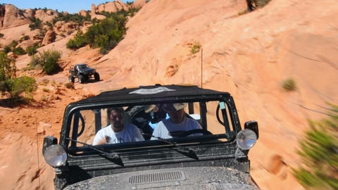 Driving Jeep in Moab Footage