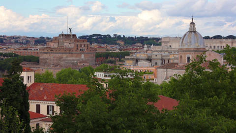 Minor dome, Castel Sant'Angelo, and Palace of Justice Footage