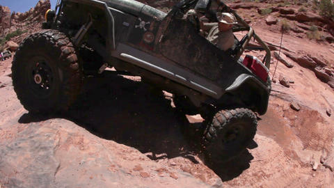 Jeep falling down Live Action