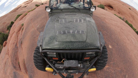 Black Jeep on Red Rock Live Action