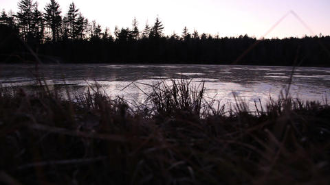 Still lake in the evening Footage