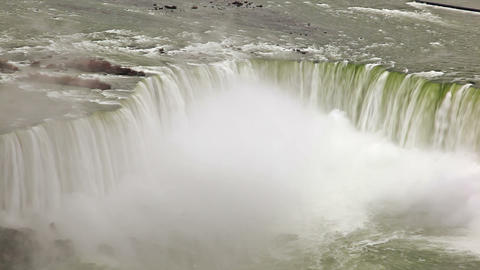 Aerial shot of Horseshoe Falls at Niagara falls Footage