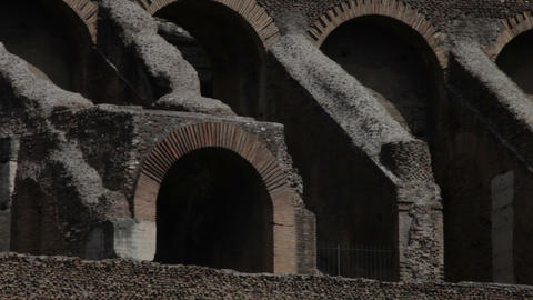 Arches seen from the inside of the Colosseum Footage