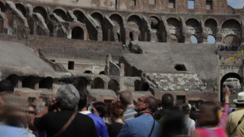 ROME - CIRCA MAY Tourists walking around in the Colosseum circa May 2012, Rome,  Footage