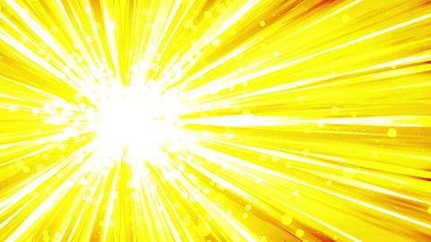 Cartoon beam animation. Shiny sun background. Sunburst rays in heaven. Abstract CG動画素材