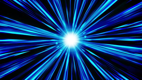 Starburst rays in space. Cartoon beam loop animation. Future technology concept CG動画