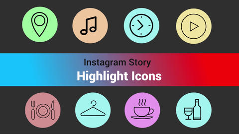 Instagram Toolkit-Highlight Icons Motion Graphics Template
