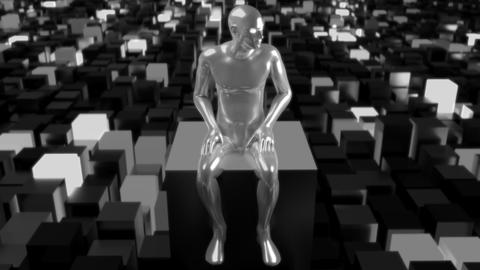 4K Artificial Intelligence AI overseeing data network Footage
