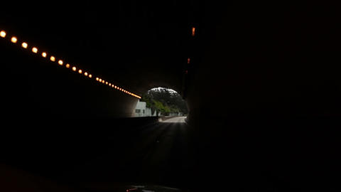 Driving out of a highway tunnel in California Footage