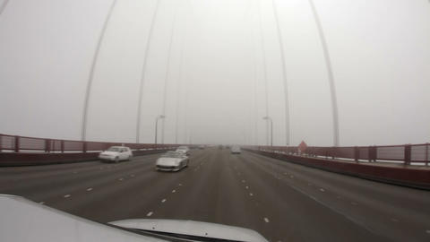 Time-lapse driving across the Golden Gate Bridge Footage