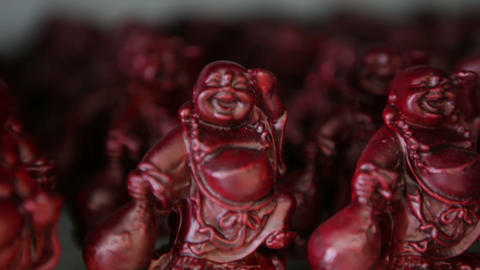 Buddha Figurine Display Footage