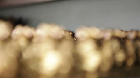 Gold Figurine Display Footage
