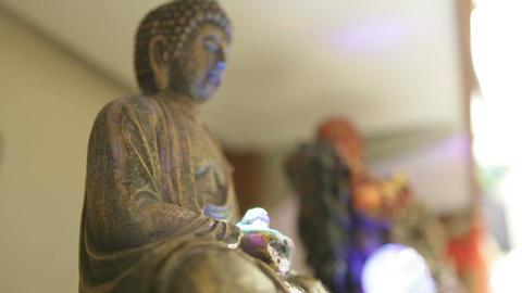 Buddha Fountain with Waterfall Footage