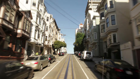 Time-lapse driving streets of San Francisco Footage
