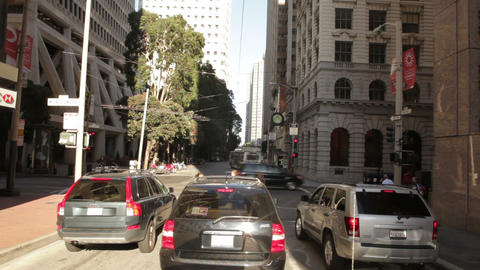 Time-lapse driving through downtown San Francisco Footage
