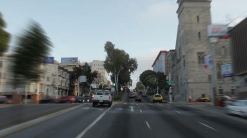 Driving near a cathedral in San Francisco Footage
