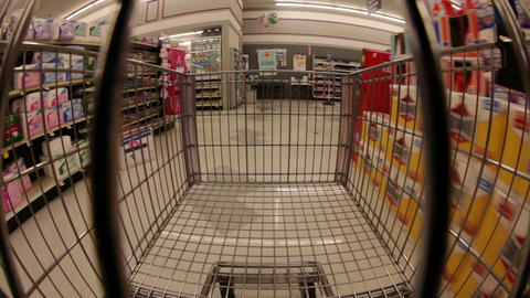 Supermarket Cart Ride Footage