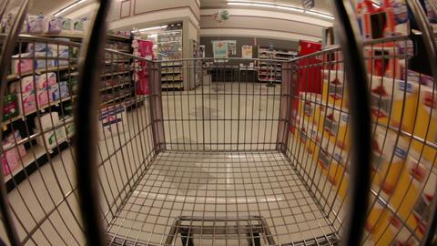 Supermarket Cart Ride Footage