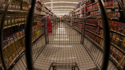 Grocery Store Aisle Footage