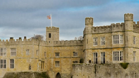 Panning time-lapse of historical Leeds Castle Footage