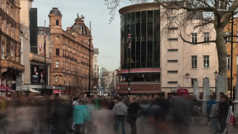 Time-lapse of Leicester Square. Cropped Footage
