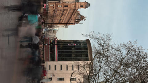 Vertical time-lapse of Leicester Square Footage