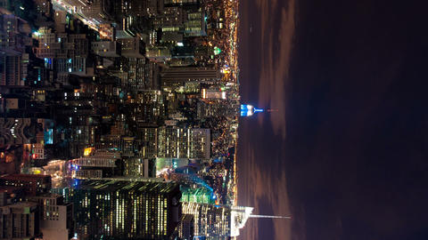 Vertical shot of New York cityscape time-lapse from the Rockefeller building Footage