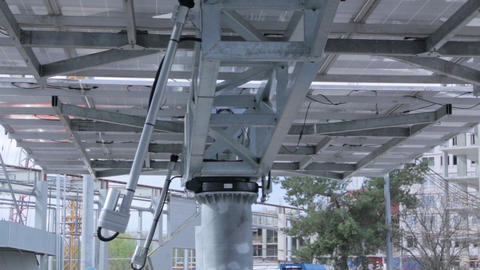 Tracking Solar Panel Equipment Footage