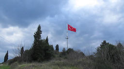 turkish flag waving Footage