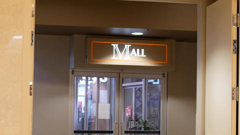 Motion of mall sign inside shopping mall with 4k resolution GIF