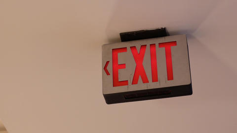 Motion of exit sign on roof with 4k resolution Live Action