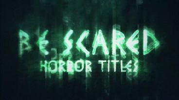 BeScared Horror Title After Effects Template