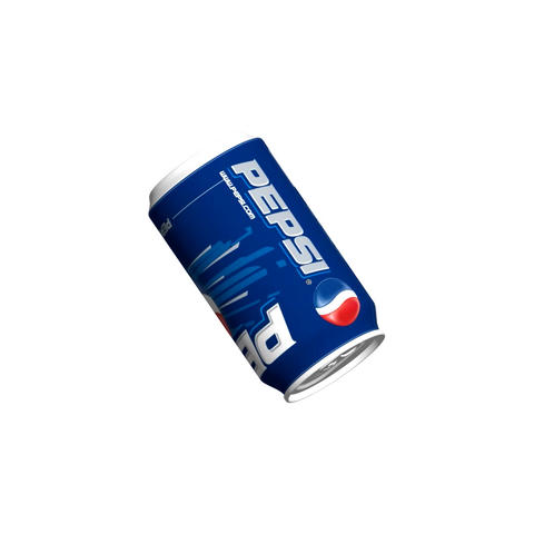 Video footage. Rotating can of PEPSI 3D Full HD on White Background. Loop Animation