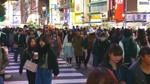Shibuya crossing right pan across Live影片