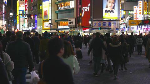 Shibuya crossing right pan Live影片