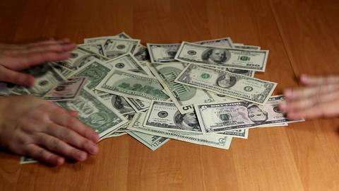 dollars Stock Video Footage
