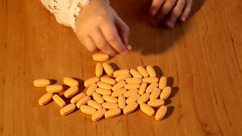 pills Stock Video Footage