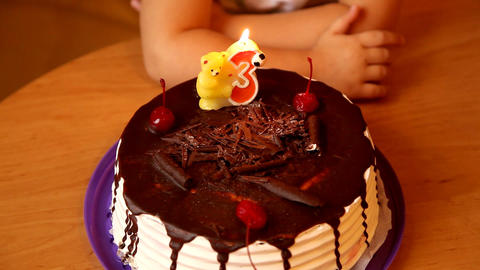 Birthday Cake stock footage