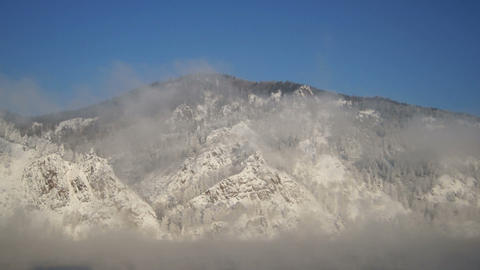 Wonderful Mountains In Winter Day 03 Stock Video Footage