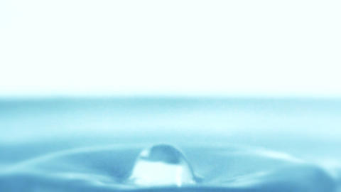Waterdrop liquid ripple macro freshness water drop splash... Stock Video Footage