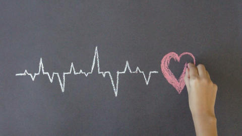 Heartbeat Diagram Stock Video Footage