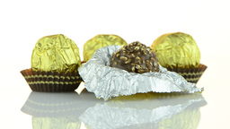 Chocolate bonbons Stock Video Footage