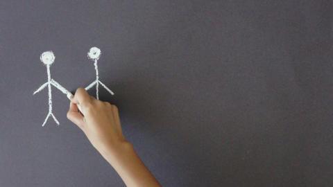 Stick People Illustration Stock Video Footage